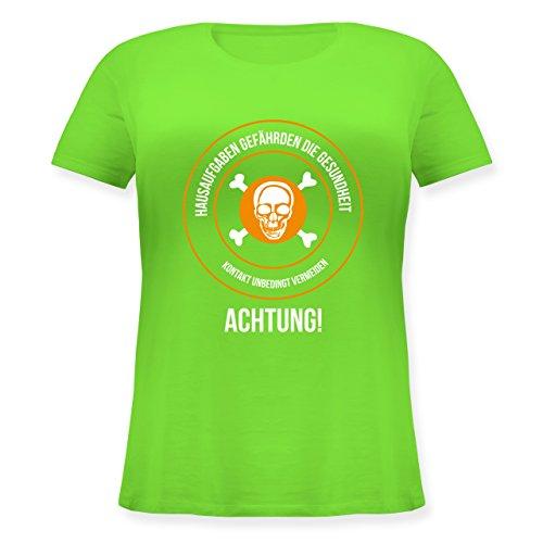 Statement Shirts - Hausaufgaben gefährden Die Gesundheit - Lockeres Damen- Shirt in Großen Größen mit