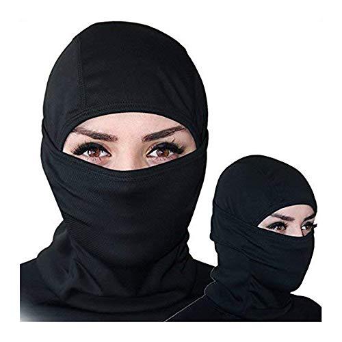 Sunvp balaclava multifuzionale inverno maschera per viso unisex, ciclismo cappello cs tactical passamontagna alpinismo snowboarding sci - nero