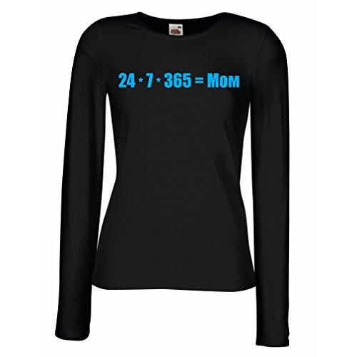Liebe Liebe Coffret (lepni.me Weibliche langen Ärmeln T-Shirt Beste Mama - liebe dich Mama Nachricht - Geburtstag, Muttertag, Jubiläumsgeschenke (Small Schwarz Blau))