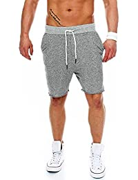 Sublevel Herren Sweat Shorts LSL-227 Loose Fit, meliert im Used-Look