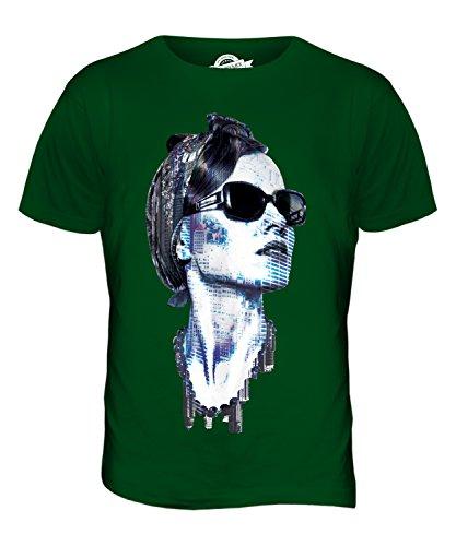 CandyMix New York Modell Herren T Shirt Flaschengrün