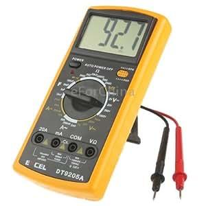 DT9205A LCD Digital Multimeter for Diode Testing / Transistor hFE Measuring Function