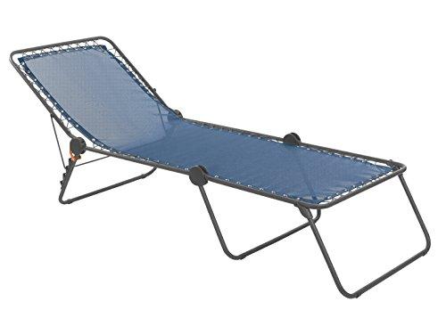 Lafuma Sonnenliege, Klappbar mit verstellbarem Rückenteil, Mit Schnürsystem, Siesta L, Batyline,...