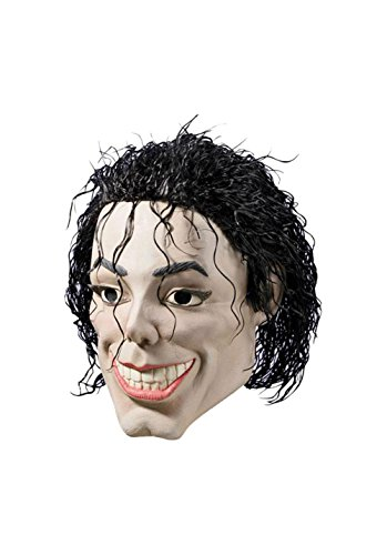 Michael Jackson Maske Kostüm - Michael Jackson Mask Plastic Man King Of Pop Singer -Gesichts-Haar Vinyl Kostüm