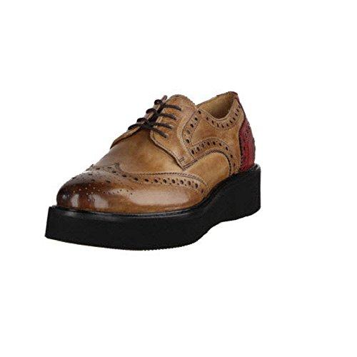 Melvin   Hamilton Molly 1, Chaussures À Lacets Femme Beige   Rouge 584c384e6a9b