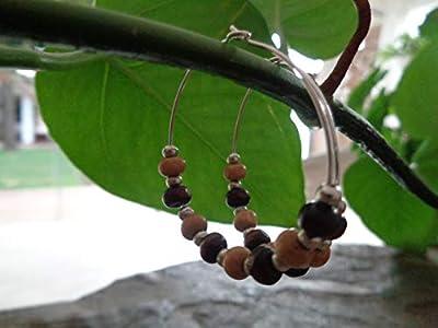 ? NATURAL - CREOLS BOHO BRUN BOHO TRIBAL ? boucles d'oreilles uniques et accrocheuses en matières naturelles