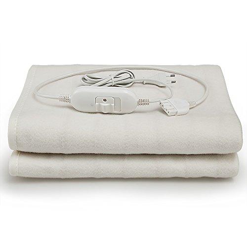 Deuba Calienta camas | Calienta sabanas | Manta eléctrica de 150 x 80 cm | 3 funciones | lavable a máquina a 40º máximo | Rápido y sencillo |