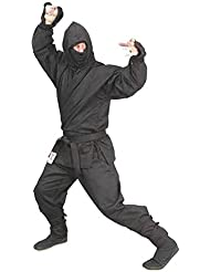 Phoenix Ninja Anzug Schwarz 6teilig