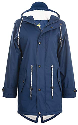Friesennerz | Maritime Jacke | Regenjacke | veredelt | Das Original aus Ostfriesland in 2 Modell Norderney (L, Blau mit Fleece)