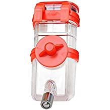 Kiao mascota perro gato agua drinkebird conejo alimentador automático R hanging dispensador de botella 350ml, Rojo, talla única
