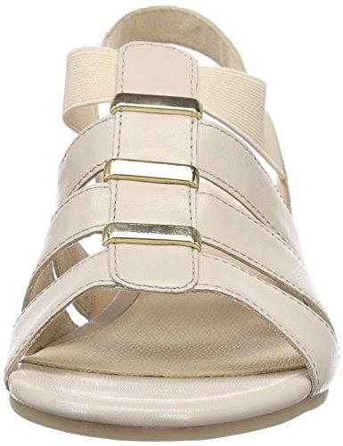 Caprice 28200 Damen Slingback Sandalen mit Blockabsatz Beige (SAND NAPPA 356)