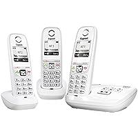 Gigaset AS405A Trio Téléphone sans Fil DECT/GAP Répondeur 3 Combinés Blanc