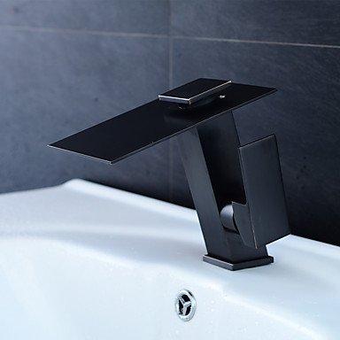 Homelons LED Wasserfall Wasserhahn Bronze Waschtischarmaturen bad Wasserhahn Waschbeckenarmatur Einhebel Waschtischmischer -
