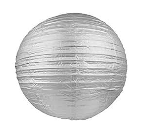 Grande Lanterne Japonaise en Papier argenté, Boule chinoise de 50 cm à suspendre