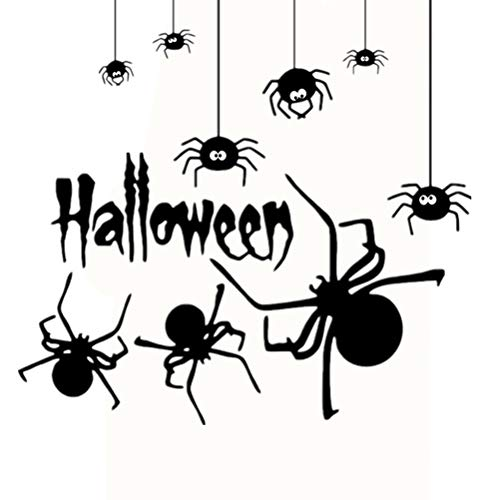 NUOBESTY Spider Wandaufkleber Halloween Wandtattoos für Home Bar Party Dekoration