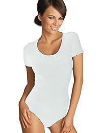 Gatta Body T-Shirt - eleganter kurzarm Body mit tiefem Rundhals Ausschnitt hoher Tragekomfort ohne Seitennähte