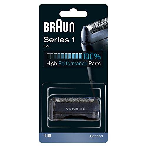 Braun Elektrorasierer Ersatzscherteil 11B, kompatibel mit Series 1 Rasierern, schwarz