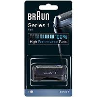 Braun 11B - Recambio para afeitadora eléctrica hombre Series 1, compatible con 150 y 130, color negro