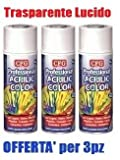 Pz.3 Bomboletta spray acrilico professionale TRASPARENTE LUCIDO