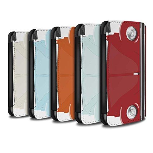 STUFF4 PU-Leder Hülle/Case/Tasche/Cover für Apple iPhone 8 Plus / Rennen Streifen Muster / Retro Beetle Kollektion Pack 9pcs