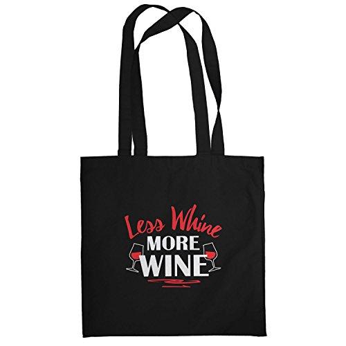 TEXLAB - Less Whine More Wine - Stoffbeutel, schwarz (Kostüme Zubehör Australien)