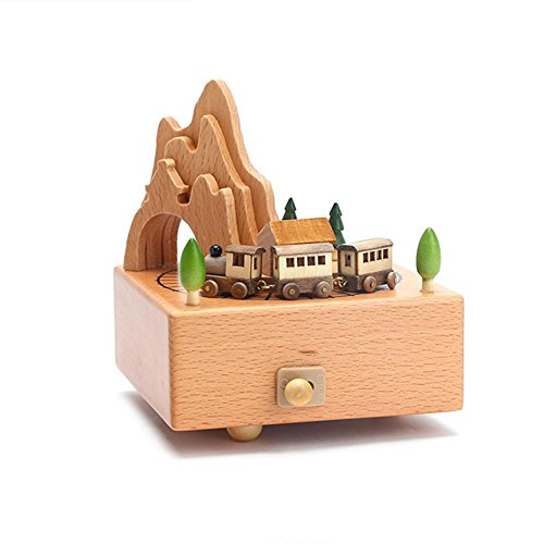 Baby Products Arvin87Lyly Rotating Carousel Music Box Ferris Wheel Music Box,Wooden Classic Music Box Crafts Creative Kids Children Girls Christmas Birthday Wedding Gift Toy