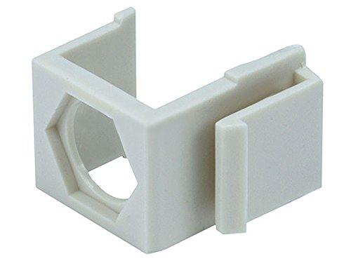 Blanko Einsatz für F Type Connector–100/Pack (Elfenbeinfarben) (Surface Mount Phone Jack)