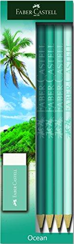 Faber-Castell 113031Bleistift und Radiergummi