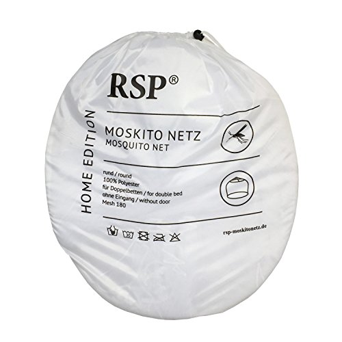 RSP Moskitonetz XXL Doppelbetten - 15,5 m Umfang - 3 m Höhe (Home Weiß)