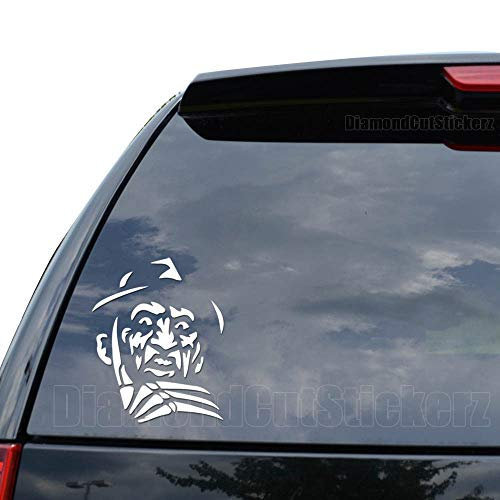 DiamondCutStickerz Freddy Krueger Decal Sticker Car Truck Motorcycle Window iPad Laptop Wall Decor - Size (10 Inch / 25 cm Tall) - Color (Gloss Red)