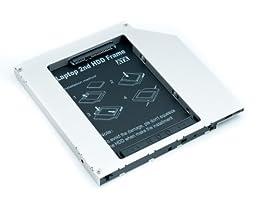 QUMOX Adaptador de 2do HDD SSD SATA para Disco Duro de Laptops Optical Bay 9.5mm