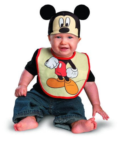 Disguise Mickey Mouse Bib & Hat Infant (0-6 mths)