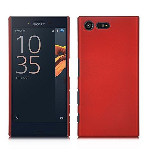 Sony Xperia X Compact Hülle, IVSO Ultra Slim Harte Rückseite Schutzhülle für Sony Xperia XCompact Smartphone (11,7 cm (4,6 Zoll) (Für Sony Xperia X Compact, Rot)