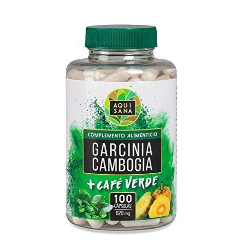Garcinia cambogia con extracto de café verde para complementar una dieta para adelgazar – Garcinia como supresor de apetito y café verde con propiedades quema grasas – 100 capsulas – Producto vegetal