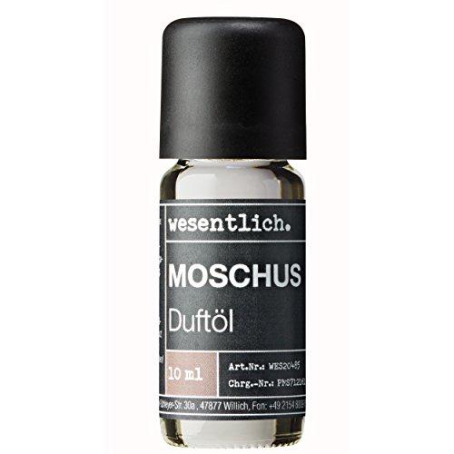 Duftöl Moschus - Aromaöl u.a. für Duftlampe und Diffuser - Premium Raumduft von wesentlich. (10ml) -