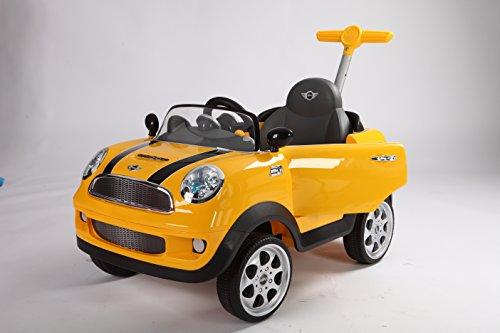ROLLPLAY Push Car mit ausziehbarer Fußstütze Für Kinder ab 1 Jah Gelb