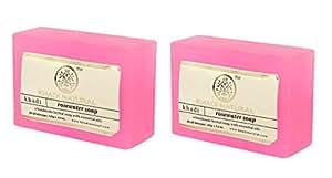 Khadi Natural Rosewater Soap, 125g (Pack of 2)