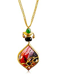 Miranika Gold Plated Pendant for Women (Multi-Colour)(C1D16AAP1)
