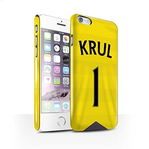 Offiziell Newcastle United FC Hülle / Glanz Snap-On Case für Apple iPhone 6 / Krul Muster / NUFC Trikot Home 15/16 Kollektion Krul