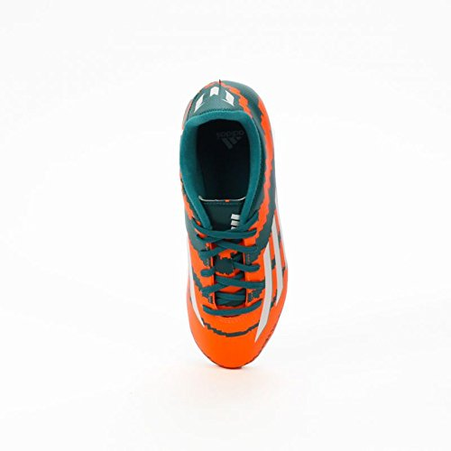Messi 10.3 FG Orange Junior - Power teal-White-Solar orange