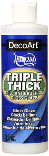 Deco Art TG01-9 Triple Thick Gloss Glaze, 8-Ounce Triple Thick Gloss Glaze