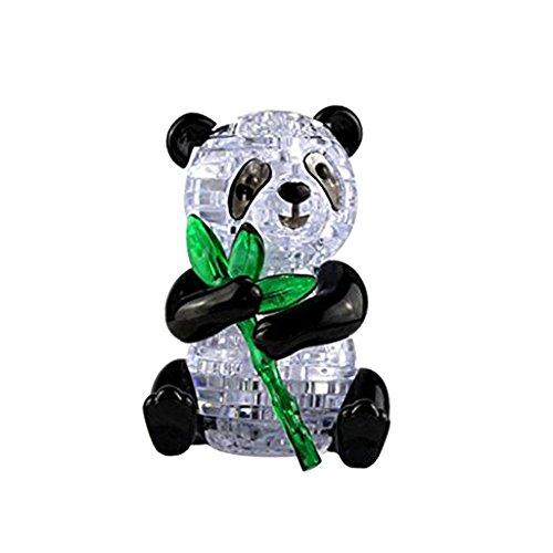 MagiDeal 3D Kristall Puzzle Kinder DIY Montagemodell Jigsaw Puzzle IQ Spielzeug - verschidene Modell - Panda