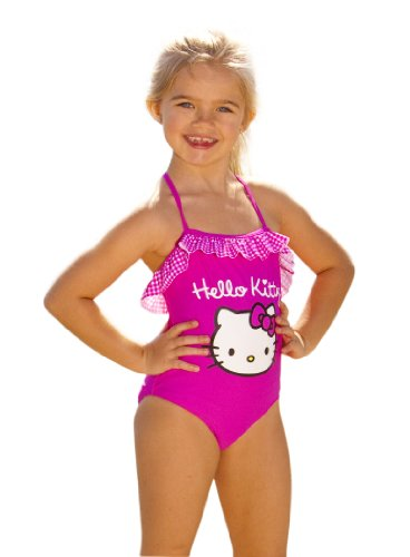 Hello Kitty One Piece Swimsuit (2T, Hot Pink)