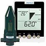 Füllstandsanzeige für Heizöl, Öltank. Ultraschall Füllstandssensor (batteriebetrieben) mit separatem Funk-Display - EcoMeter - Funkübertragung bis zu 150m