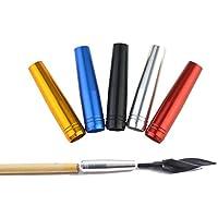 ZSHJG 12 Piezas Inserto de Flecha de Aluminio de Tiro con Arco para 8 mm Conector de Flecha de Eje de Flecha Flechas de Bambú de Madera (Amarillo)