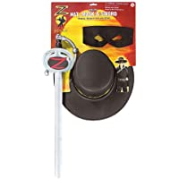 Kit Zorro spada, maschera e cappello bambini