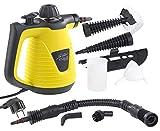 Sichler Haushaltsgeräte Hand Dampfreiniger: Tragbarer Dampfreiniger mit großem Zubehör-Pack, 1.000 W (Dampfente)