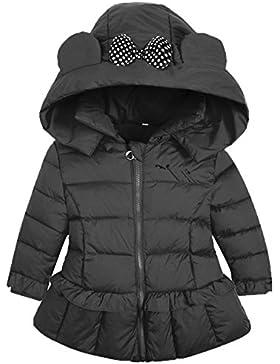 AnKoee Cappotto Ragazza di Inverno Giacca a Vento di Del Cappotto di Trincea del Rivestimento di Spessore Caldo
