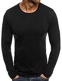OZONEE Mix Herren Longsleeve Langarmshirt Sweatshirt Motiv Basic J.Style 2088