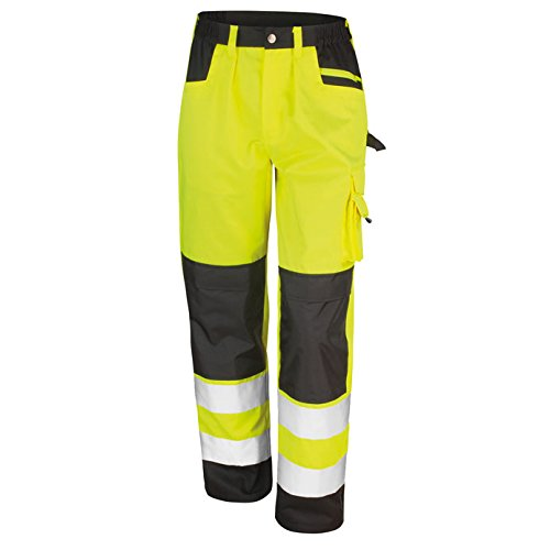 Result Safe Guard Cargo Trousers Pantaloni, Gelb (Flo Yellow R327xyellxsr), M Uomo